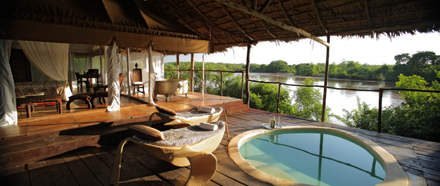 Safari camp in der Selous  Tansania